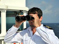 Qualified Merchant Navy Deck Officer at sea