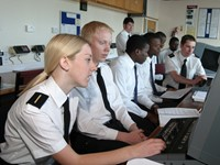 Deck Cadets in training with SSTG for the Merchant Navy